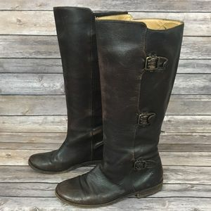 Frey Brown Leather Boot
